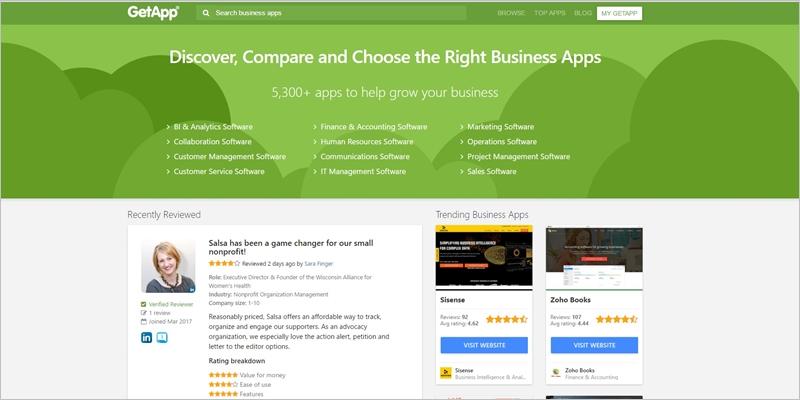 GetApp review website