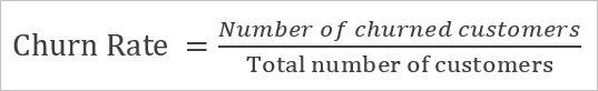saas churn rate equation