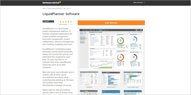 software advice website for software selection