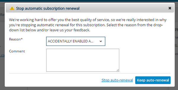 stop automatic subscription renewal 2