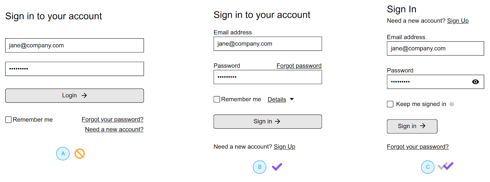 online forms page