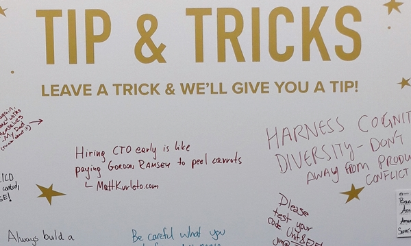 saastr annual tips and tricks board