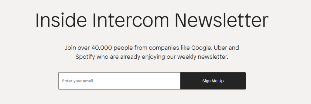 Growth Newsletter - Inside Intercom