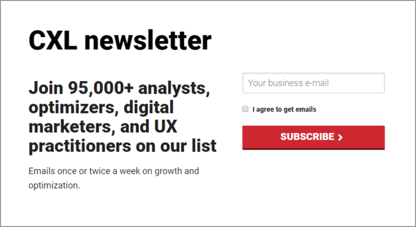 Growth Newsletter - CXL