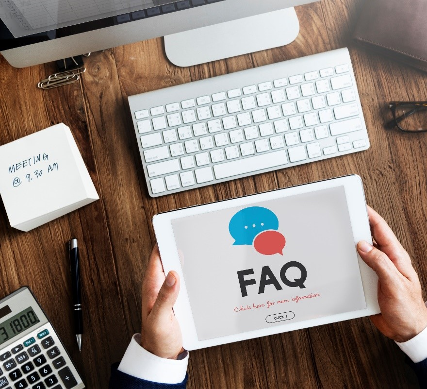 FAQ page in the eCommerce site