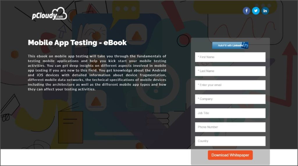 B2B Website Feature 4 - landing pages