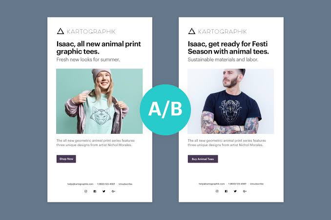 Email Marketing - A/B Testing (Weebly)