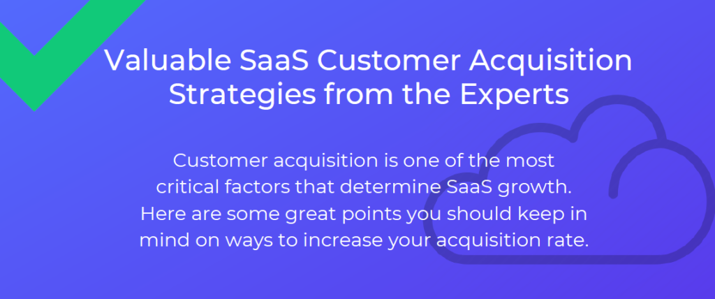 Valuable SaaS Customer Acquisition Strategies from the Experts - Infographic