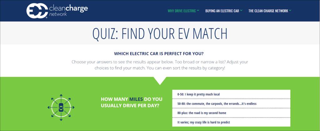 interactive content - quiz