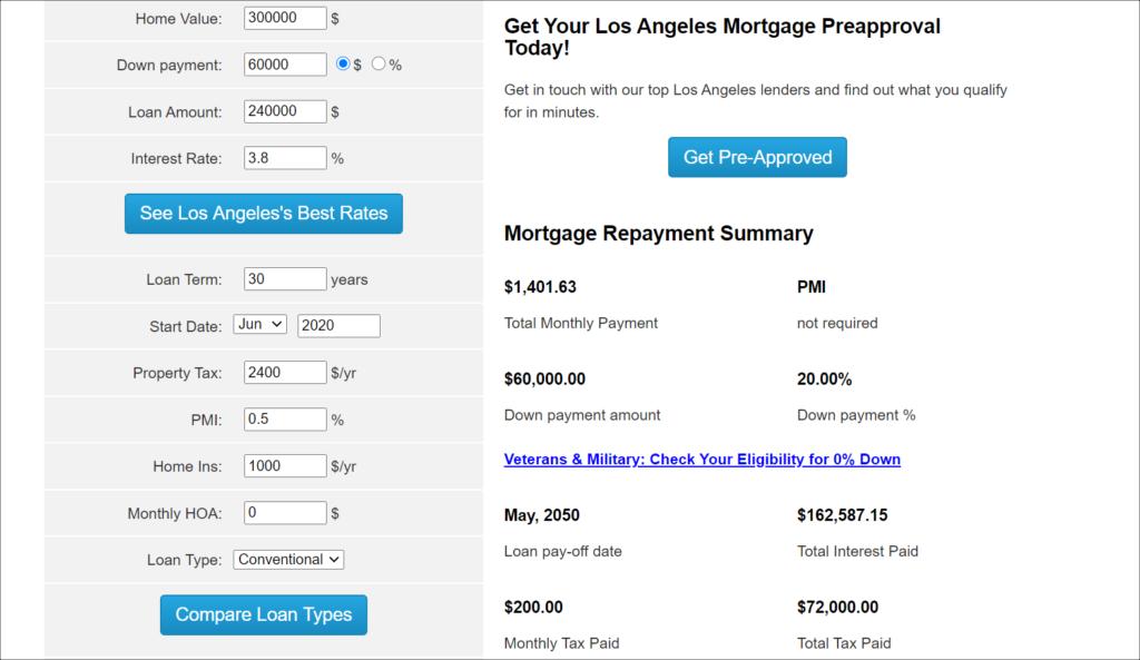 interactive content - mortgage calculator