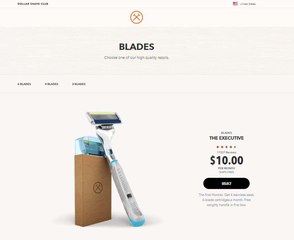 whitelabeling - dollar shave club