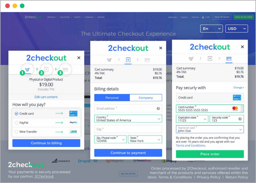 Inline Cart - Online Checkout