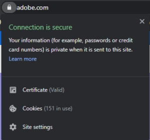 adobe secure connection