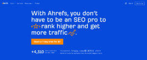 ecommerce seo audit tool - ahrefs
