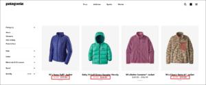 patagonia loss-leader pricing