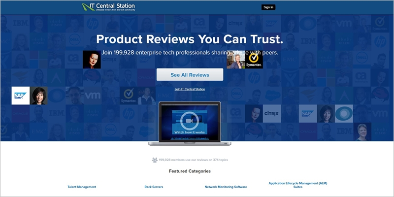 IT central station software review platform