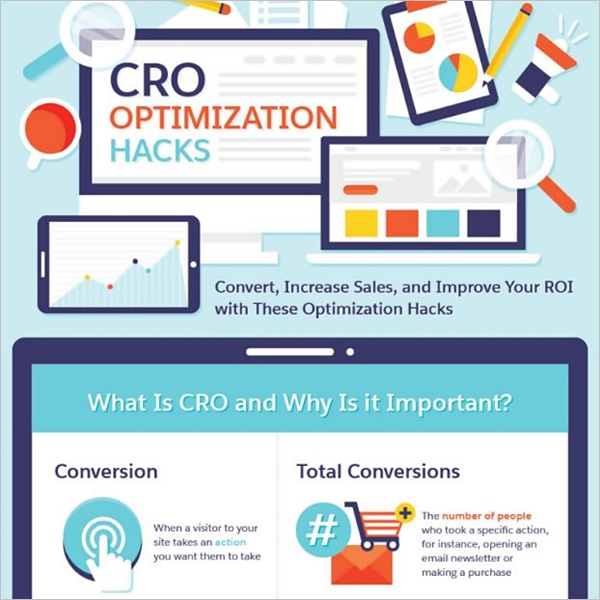 CRO optimization hacks infographic