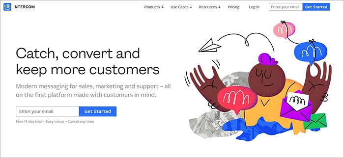 Intercom Homepage Modern Messaging