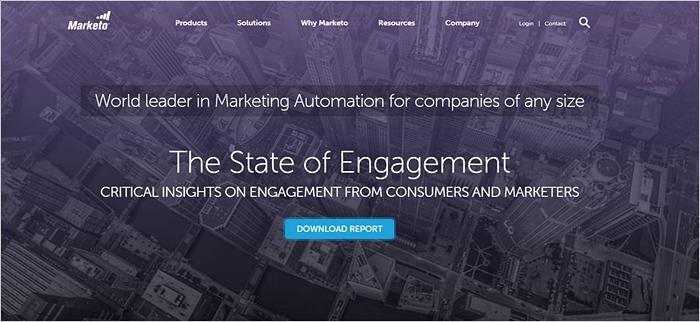Marketo Homepage