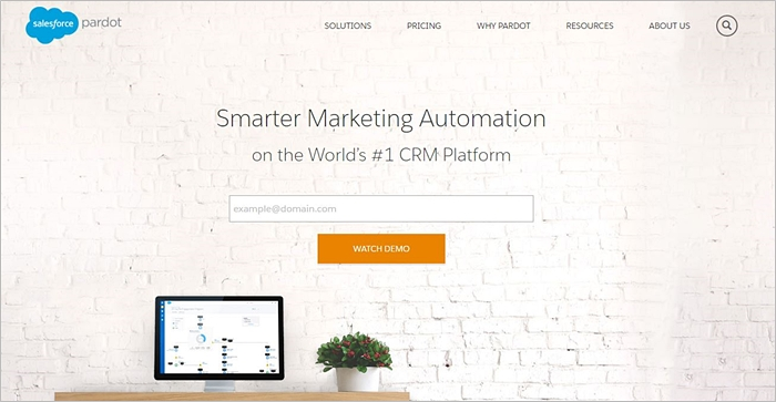 Pardot Smarter Marketing automation Homepage