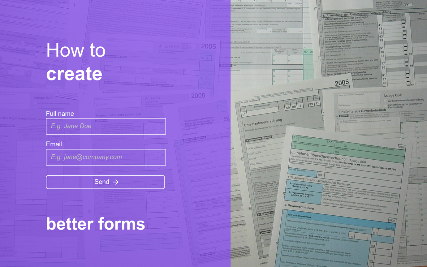 create better forms