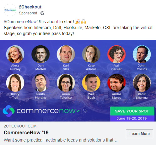 2checkout advertising